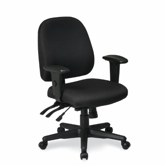 Office Star Work Smart Ergonomics Chair with Ratchet Back and Multi Function Control