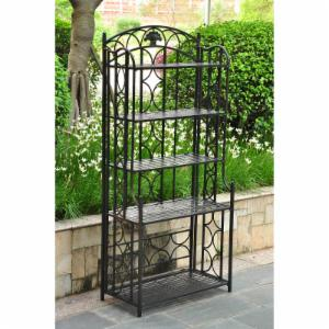 International Caravan Chelsea Indoor/Outdoor Iron 5-Tier Bakers Rack