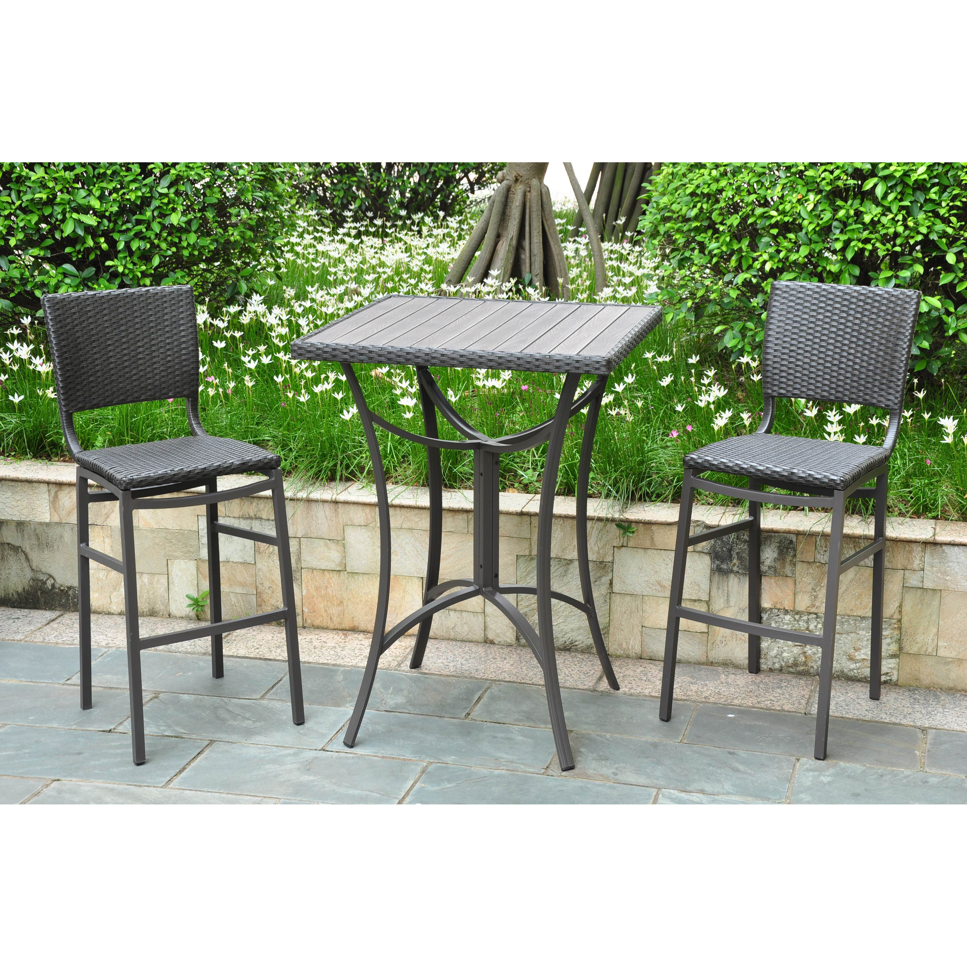 belham living wrought iron bar height bistro set by woodard hayneedle
