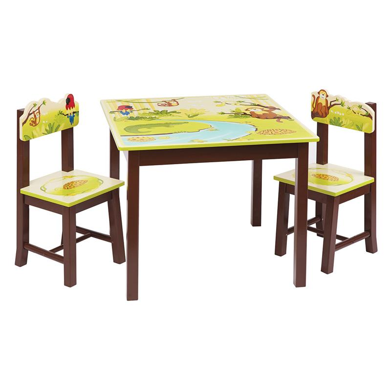 Guidecraft Jungle Party Table and Chairs Set - G86902