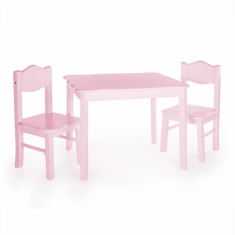 Guidecraft Classic Wavy Table and Chairs - Pink - ID911