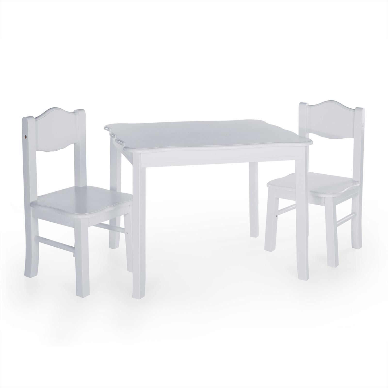 Guidecraft Classic Wavy Table and Chairs - Gray - ID912-2