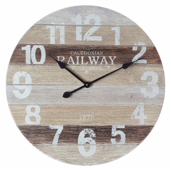 Infinity Instruments Antique Railway Wall Clock
