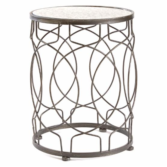 InnerSpace Loop Glass Top Side Table
