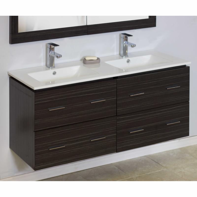 American Imaginations 48 in. Double Bathroom Vanity with ...