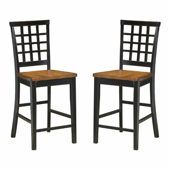 Intercon Arlington Lattice Back Counter Height Chairs - Set of 2