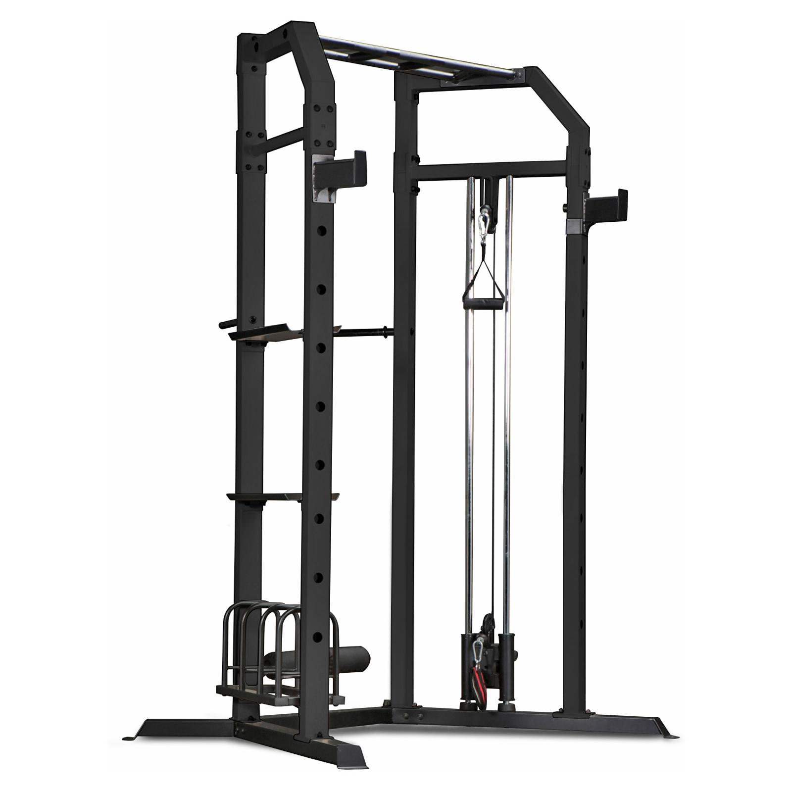 Marcy Olympic Multi-purpose Strength Training Cage with Pull Up Bars / Adjustable Bar Catchers and Pulley SM-3551 -  Impex, SM3551