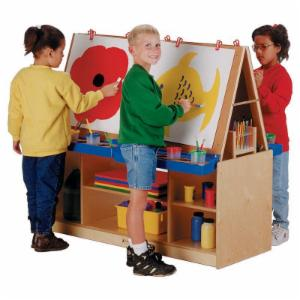 Jonti-Craft 4 Station Art Center Childrens Easel