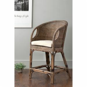 East At Main Vold Square Rattan Counter Stool