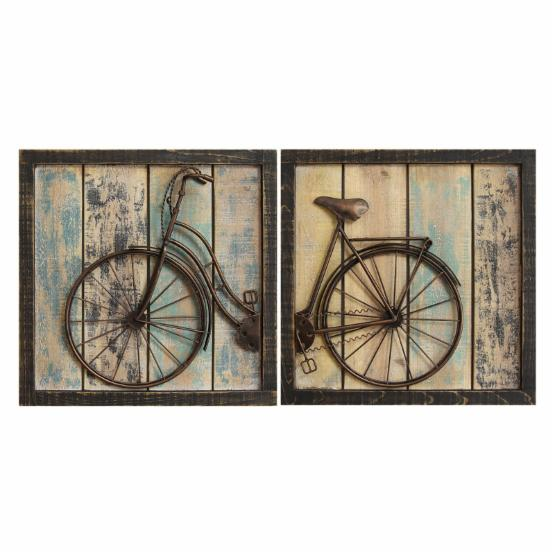 Stratton Home Rustic Bicycle Wall Decor - Set of 2