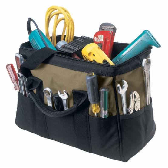 Custom Leathercraft 16 in. Large 22 Pocket BigMouth® Tool Bag