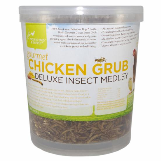 Pacific Bird & Supply Co Inc Gourmet Chicken Grub Deluxe Insect Medley Bucket