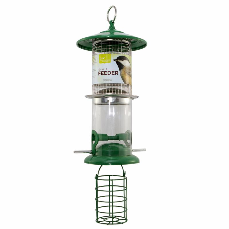 Pacific Bird & Supply Co Inc Green 3-in-Feeder - 0862-3613