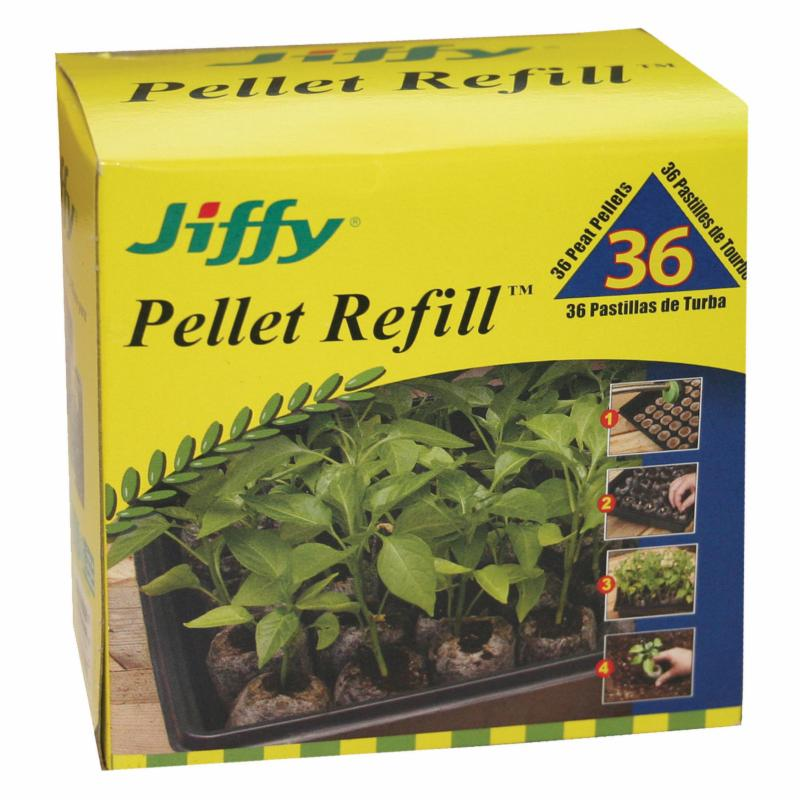 Jiffy 36 mm. Peat Plant Pellet Refill - Pack of 36 - 1373...