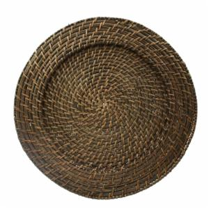 Charge it by Jay Brick Brown Rattan Charger Plates