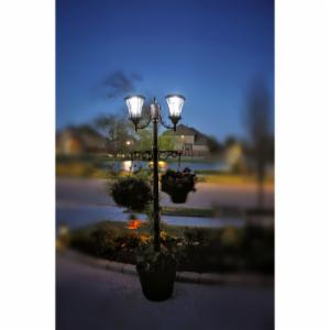 Sun-Ray Martens Solar Lamp Post and Planter