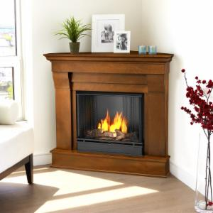 Real Flame Chateau Corner Ventless Gel Fireplace - Espresso