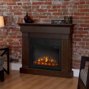 Real Flame Crawford Slim Line Electric Fireplace - Chestnut Oak