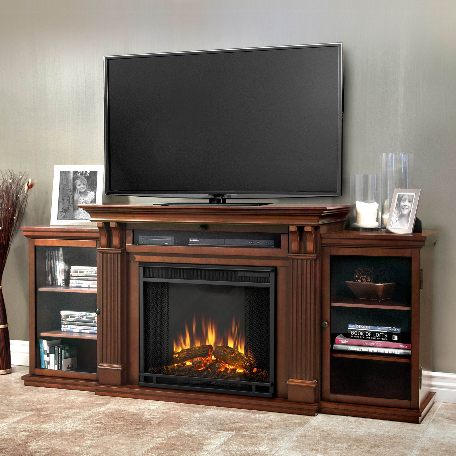 real flame valmont entertainment center electric fireplace hayneedle