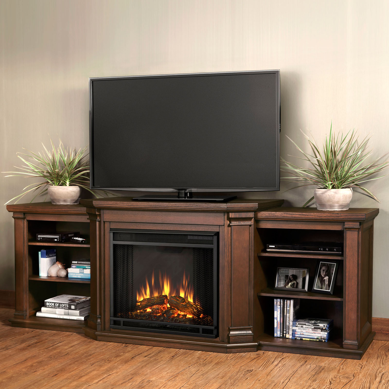 Fireplace TV Stands on Hayneedle - TV Stand With Fireplace Heaters