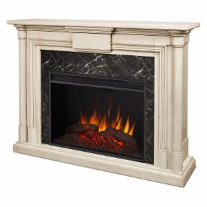 Real Flame Maxwell Grand Electric Fireplace - White Wash