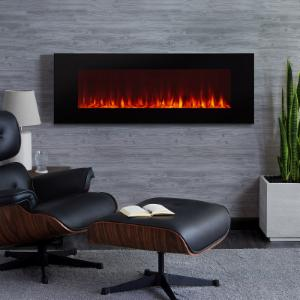 Real Flame DiNatale Wall-Mounted 50 in. Electric Fireplace