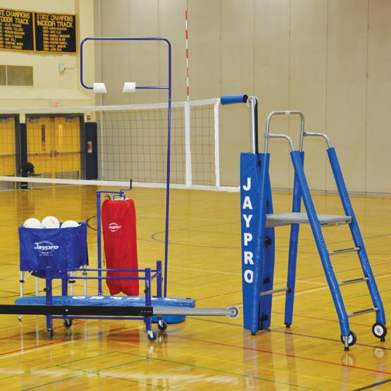 Jaypro 3 Inch Featherlite Volleyball System - Standard Package with Optional Personalzition