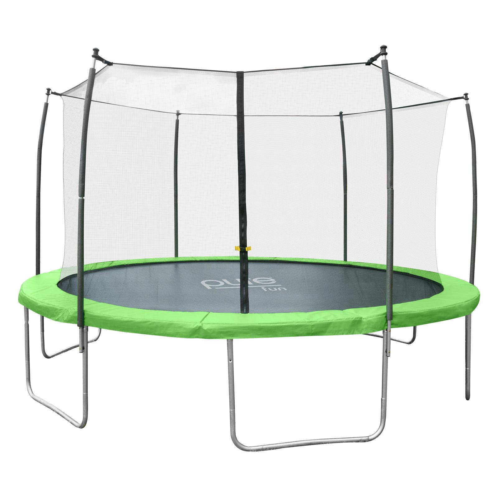 Pure Fun Dura-Bounce 15 ft. Round Trampoline with Enclosure - 9315TS