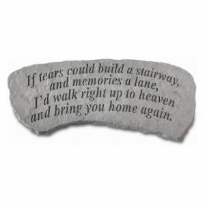 Kay Berry If Tears Could Build A Stairway Small Memorial Bench - 29 in. Cast Stone