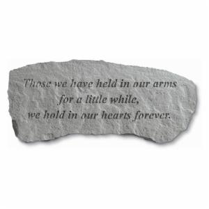 Kay Berry Those We Have Held In Our Arms Small Memorial Bench - 29 in. Cast Stone
