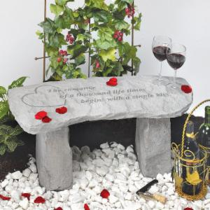 Kay Berry The Romance Of A Thousand Lifetimes Small Garden Bench - 29 in. Cast Stone