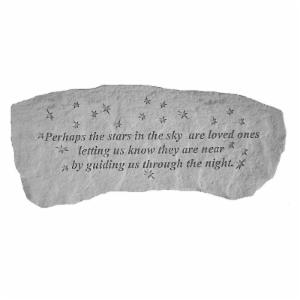 Kay Berry Perhaps The Stars In The Sky  Memorial Bench - 29 in. Cast Stone