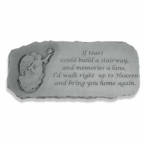 Kay Berry If Tears Could Build A Stairway Memorial Bench - 29 in. Cast Stone
