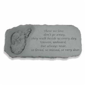 Kay Berry Those We Love Don't Go Away Memorial Bench - 29 in. Cast Stone