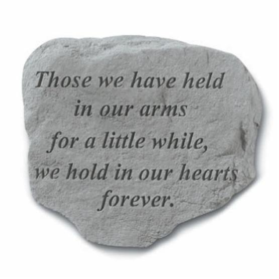 Those We Have Held In Our Arms Garden Stone