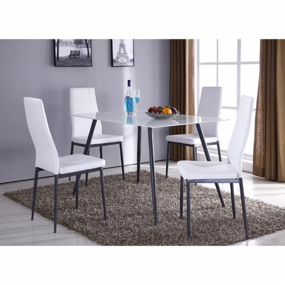 K & B Furniture Bourne Glass Top Dining Table