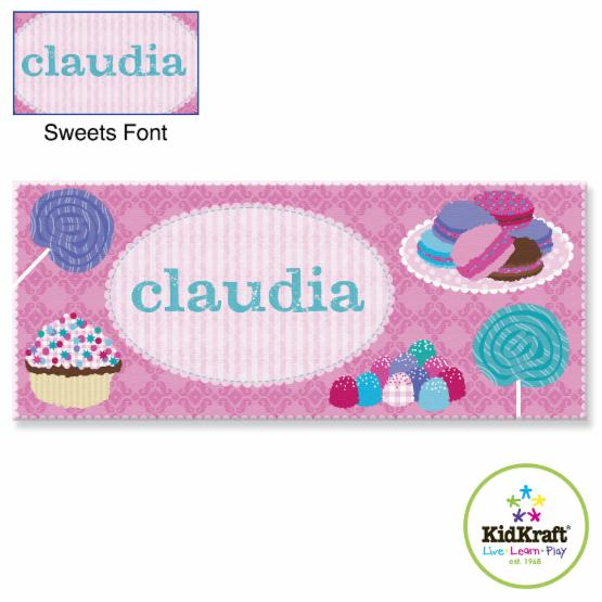 KidKraft Personalized 10 x 24 in. Canvas - Sweets - W00357-1