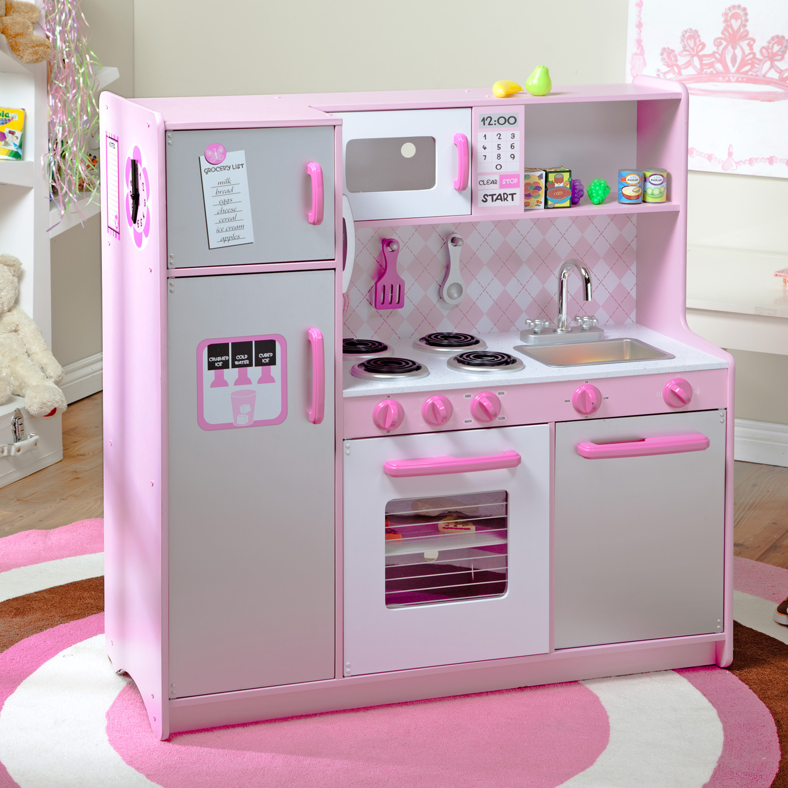 Play Kitchen Kidkraft Uptown Espresso Play Kitchen 53260 Play Kitchens At