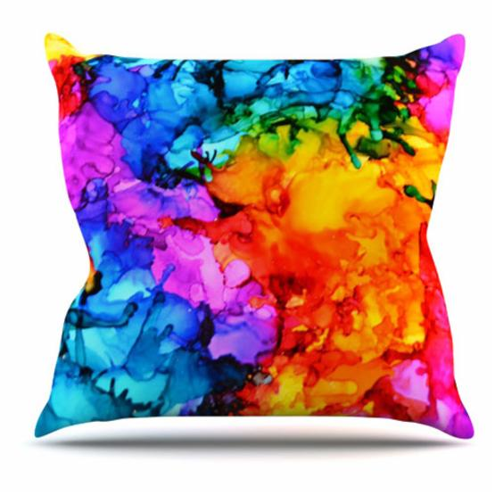 Kess InHouse Claire Day Sweet and Sour 2 Splatter Indoor/Outdoor Throw Pillow