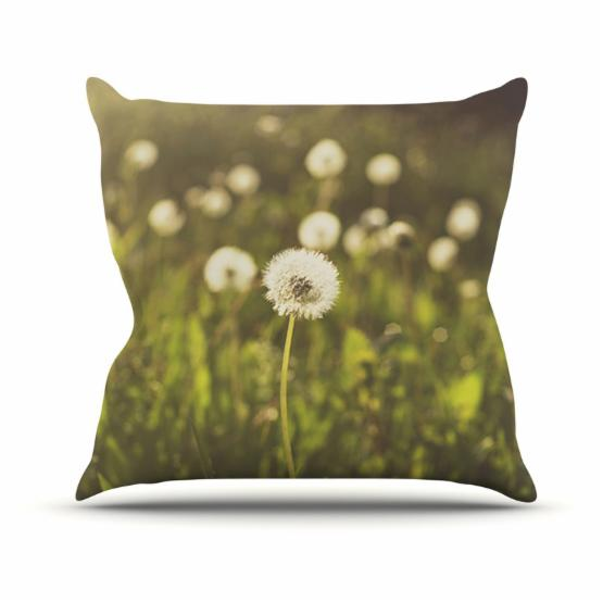 Kess InHouse Libertad Leal As You Wish Dandelions Outdoor Throw Pillow