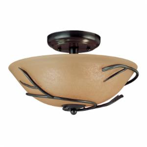 Kenroy Home Twigs 2-Light Flush Mount 90906BRZ - 12.25W in. Bronze