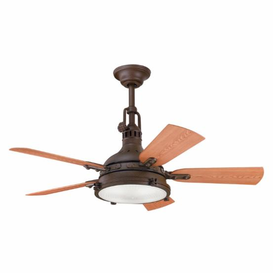 Kichler 310101TZP Hatteras Bay 44 in. Indoor/Outdoor Ceiling Fan - Tannery Bronze