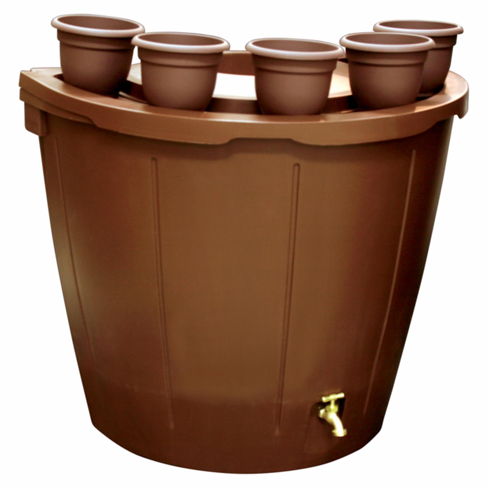 KoolScapes 50 gal. Rain Barrel with 5 Planters - RBBP-50