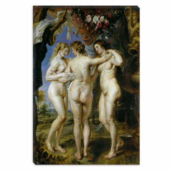 The Three Graces by Peter Paul Rubens Canvas Painting