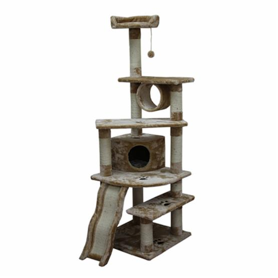 Kitty Mansions Shanghai 71 in. Cat Tree - Beige