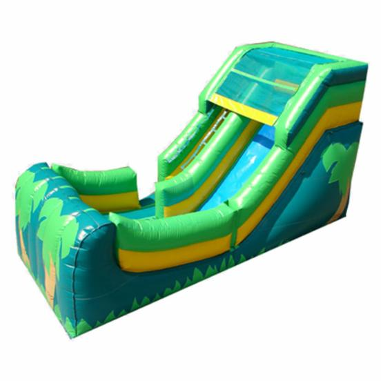 Kidwise 12 ft. Wet & Dry Inflatable Slide - Tropical Theme