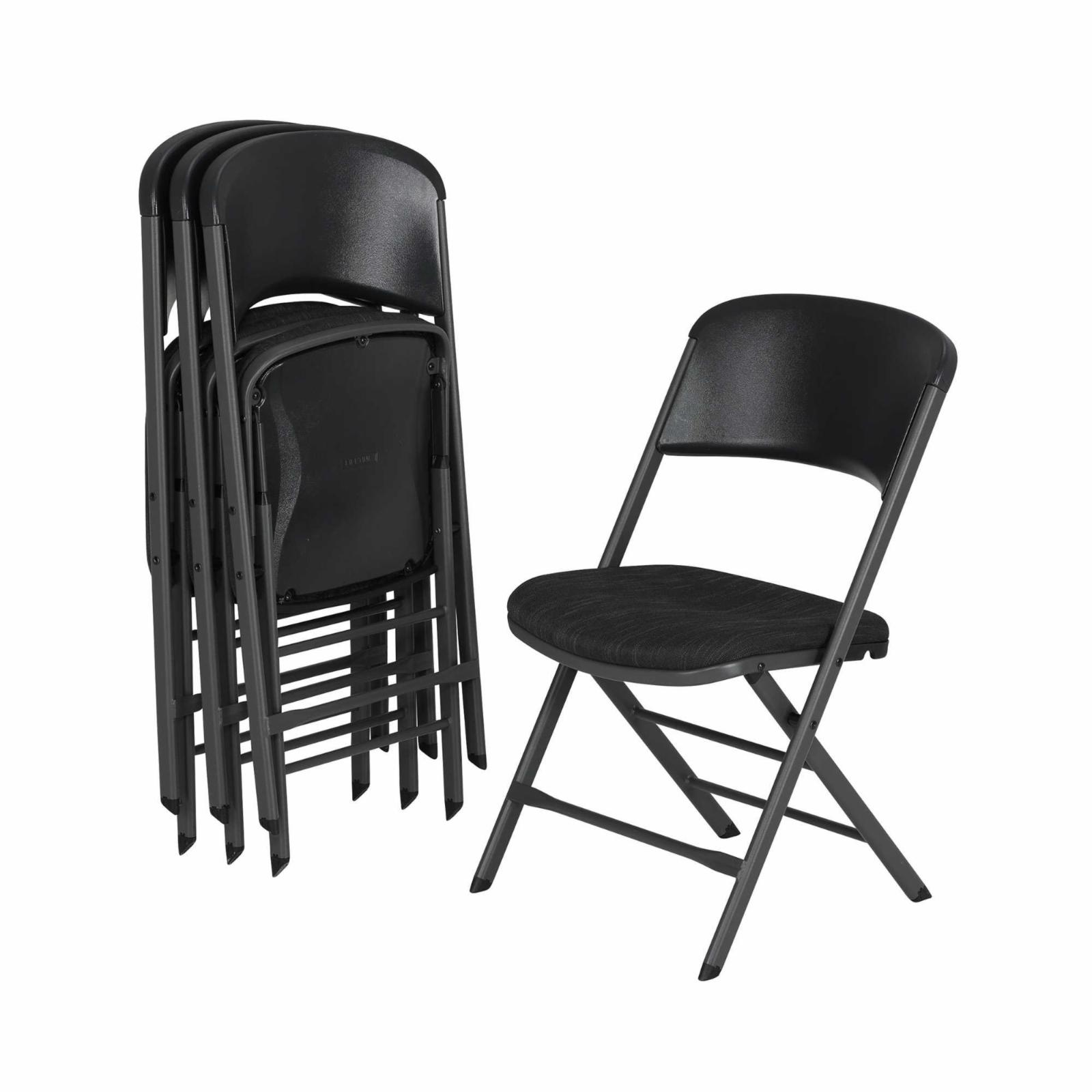 Lifetime Padded Folding Chair - Set of 4