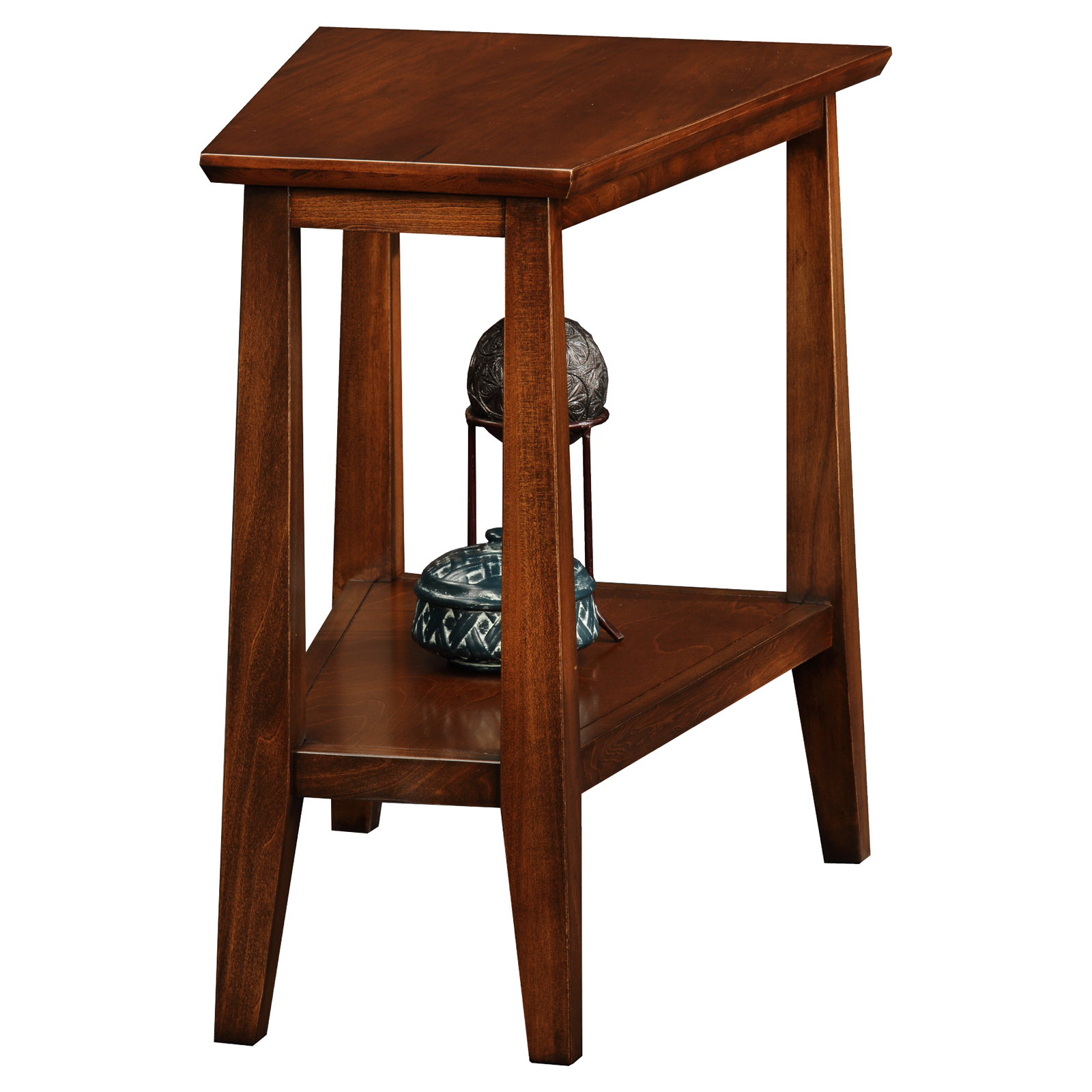 Leick Recliner Wedge Chocolate Cherry End Table Hayneedle