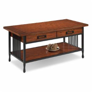 Leick Furniture Ironcraft 2 Drawer Coffee Table