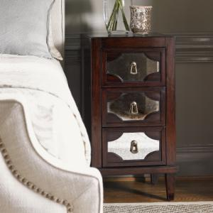 Lexington Home Brands Kensington Lucerne Mirrored 3 Drawer Nightstand